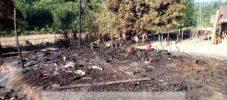 লামায় অগ্নিকান্ডে ম্রো পাড়ার ৪ বসতঘর পুড়ে ছাই